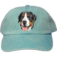 Greater Swiss Mountain Dog Embroidered Baseball Caps