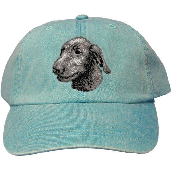 Embroidered Baseball Caps Turquoise  Irish Wolfhound D75