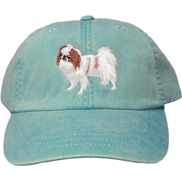 Embroidered Baseball Caps Turquoise  Japanese Chin DV213