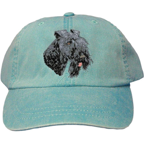 Embroidered Baseball Caps Turquoise  Kerry Blue Terrier D74