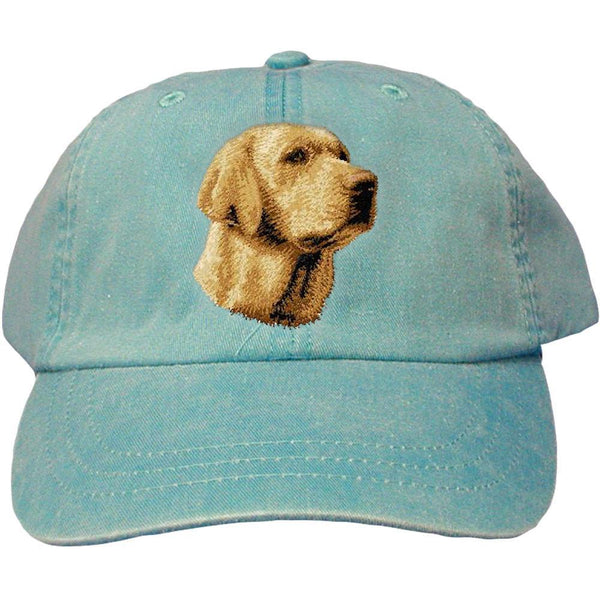 Embroidered Baseball Caps Turquoise  Labrador Retriever D14