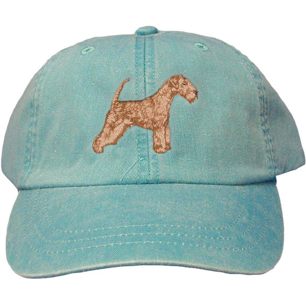 Embroidered Baseball Caps Turquoise  Lakeland Terrier DV320