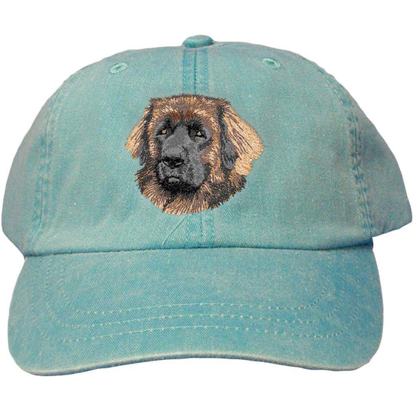 Embroidered Baseball Caps Turquoise  Leonberger DV221