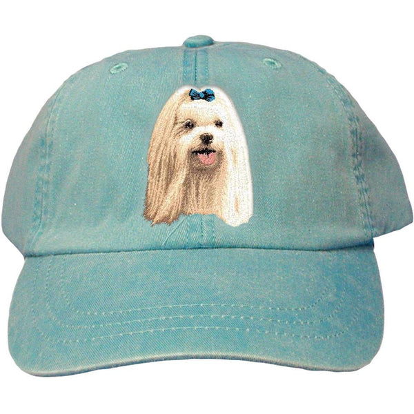 Embroidered Baseball Caps Turquoise  Maltese D64