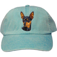Miniature Pinscher Embroidered Baseball Caps
