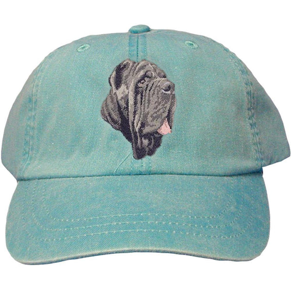 Embroidered Baseball Caps Turquoise  Neapolitan Mastiff DM163