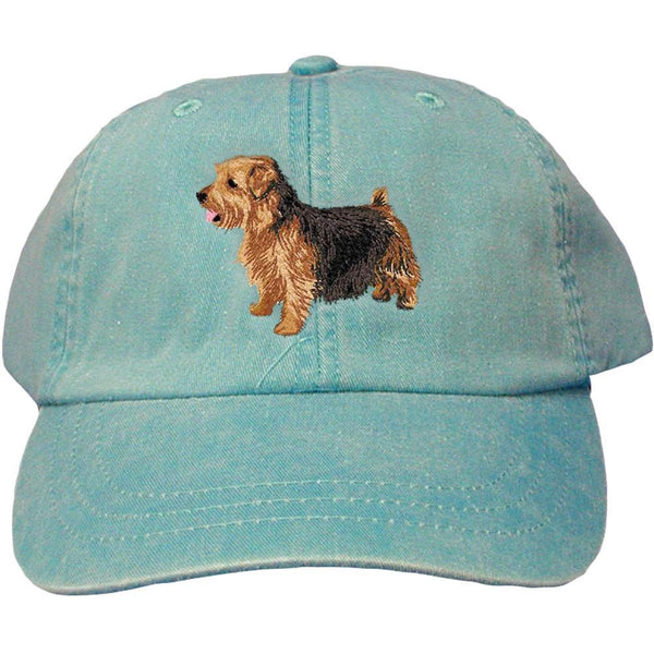 Embroidered Baseball Caps Turquoise  Norfolk Terrier DJ277