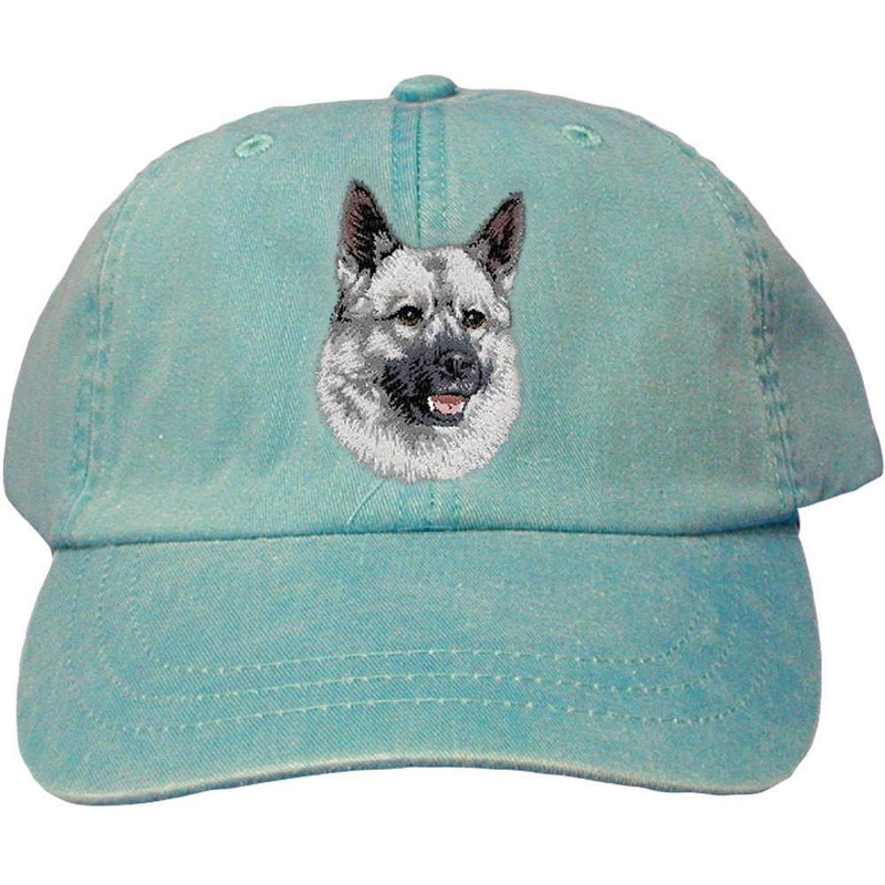 Embroidered Baseball Caps Turquoise  Norwegian Elkhound D144