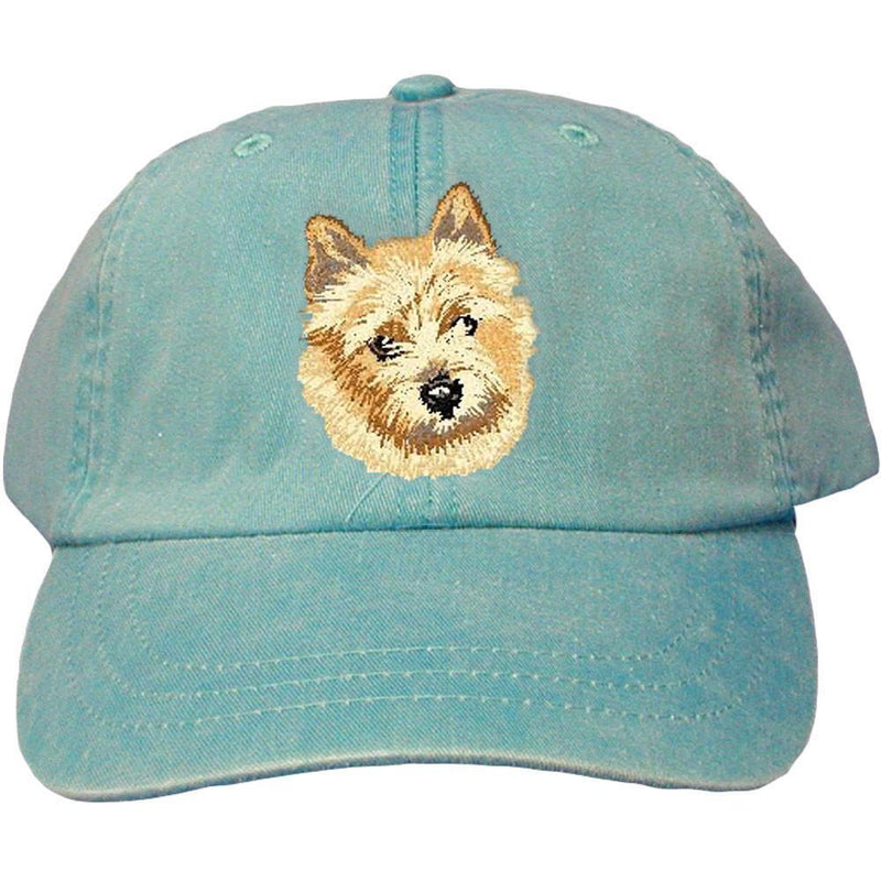 Embroidered Baseball Caps Turquoise  Norwich Terrier DV158