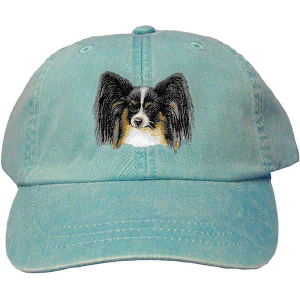 Embroidered Baseball Caps Turquoise  Papillon D151