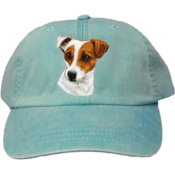 Embroidered Baseball Caps Turquoise  Parson Russell Terrier D26