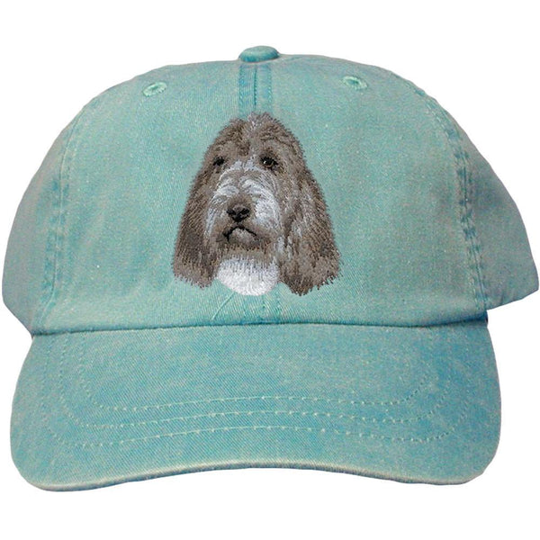 Embroidered Baseball Caps Turquoise  Petit Basset Griffon Vendeen D104