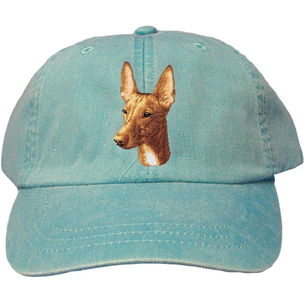 Embroidered Baseball Caps Turquoise  Pharaoh Hound D90