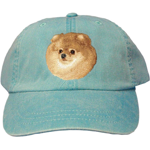 Embroidered Baseball Caps Turquoise  Pomeranian D103