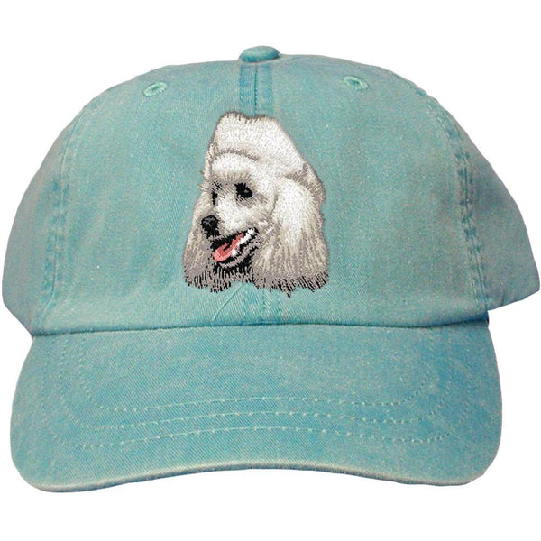 Embroidered Baseball Caps Turquoise  Poodle D18