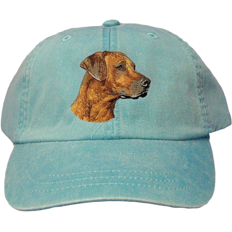 Embroidered Baseball Caps Turquoise  Rhodesian Ridgeback DN297