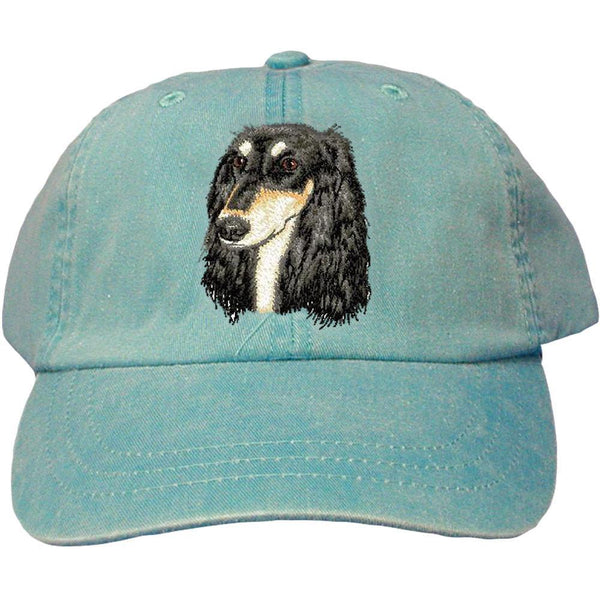 Embroidered Baseball Caps Turquoise  Saluki D76