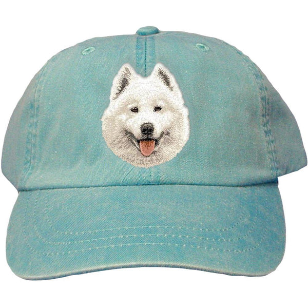 Embroidered Baseball Caps Turquoise  Samoyed D62