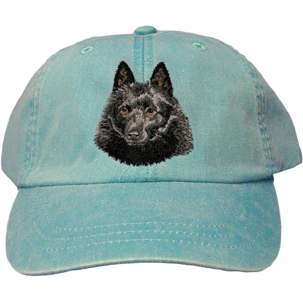 Embroidered Baseball Caps Turquoise  Schipperke DN434