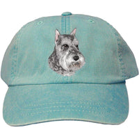 Schnauzer Embroidered Baseball Caps