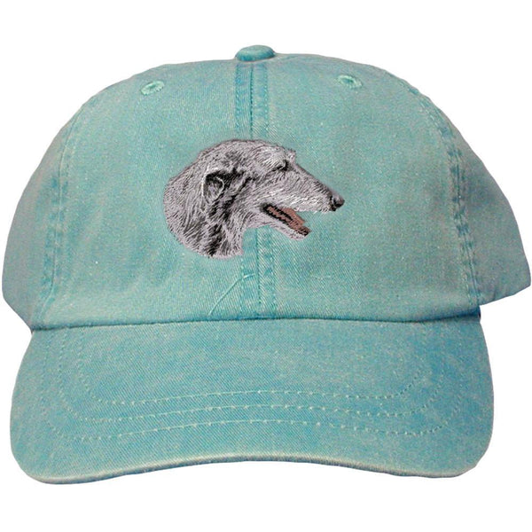 Embroidered Baseball Caps Turquoise  Scottish Deerhound D52