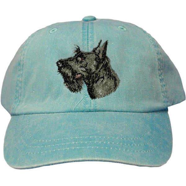 Embroidered Baseball Caps Turquoise  Scottish Terrier D32