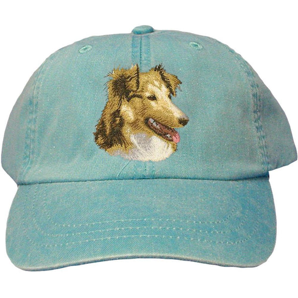 Embroidered Baseball Caps Turquoise  Shetland Sheepdog D84