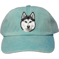Siberian Husky Embroidered Baseball Caps