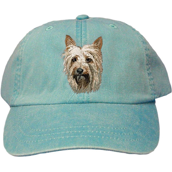 Embroidered Baseball Caps Turquoise  Silky Terrier DM405