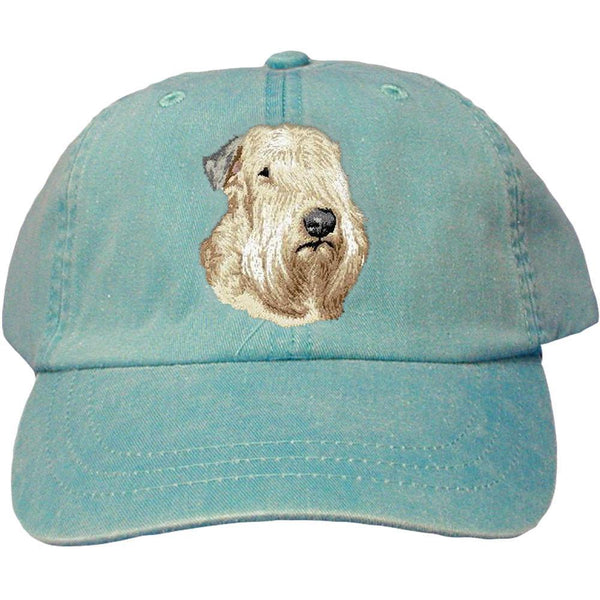 Embroidered Baseball Caps Turquoise  Soft Coated Wheaten Terrier D147