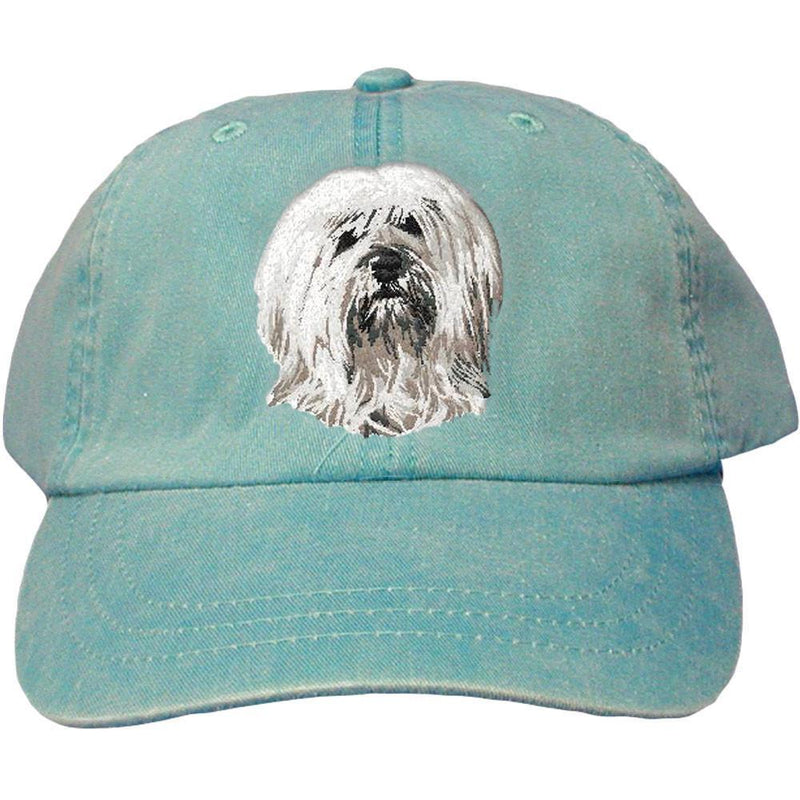 Embroidered Baseball Caps Turquoise  Tibetan Terrier DN391