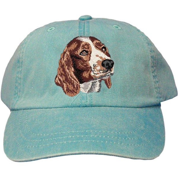 Embroidered Baseball Caps Turquoise  Welsh Springer Spaniel DV170