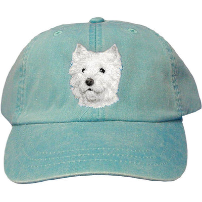 West Highland White Terrier Embroidered Baseball Caps