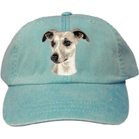 Whippet Embroidered Baseball Caps