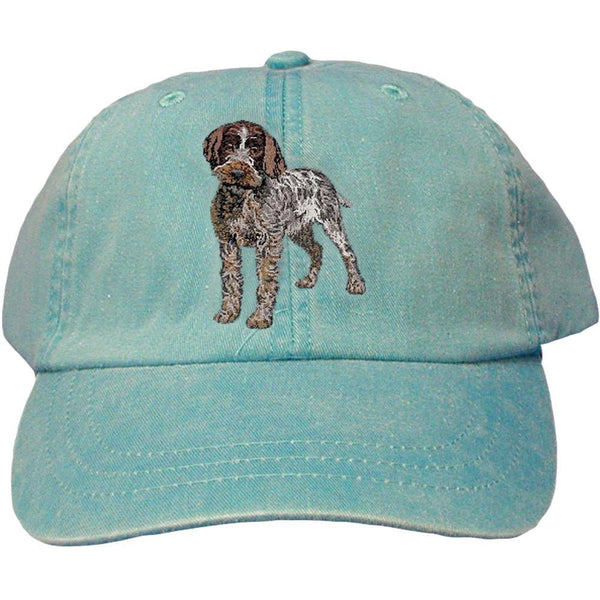 Embroidered Baseball Caps Turquoise  Wirehaired Pointing Griffon DV193