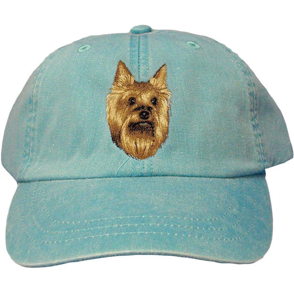 Embroidered Baseball Caps Turquoise  Yorkshire Terrier D15