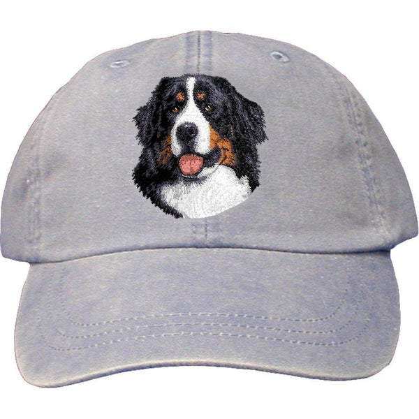 Embroidered Baseball Caps Light Blue  Bernese Mountain Dog D13