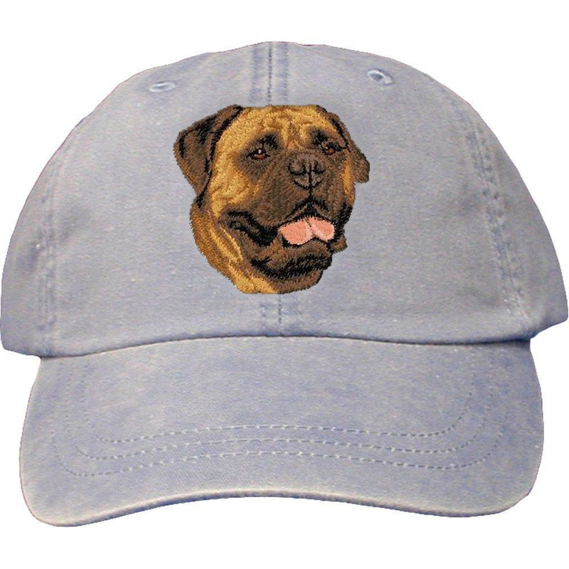 Embroidered Baseball Caps Light Blue  Bullmastiff D56