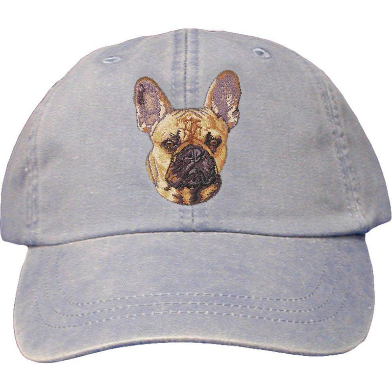 Embroidered Baseball Caps Light Blue  French Bulldog DN333