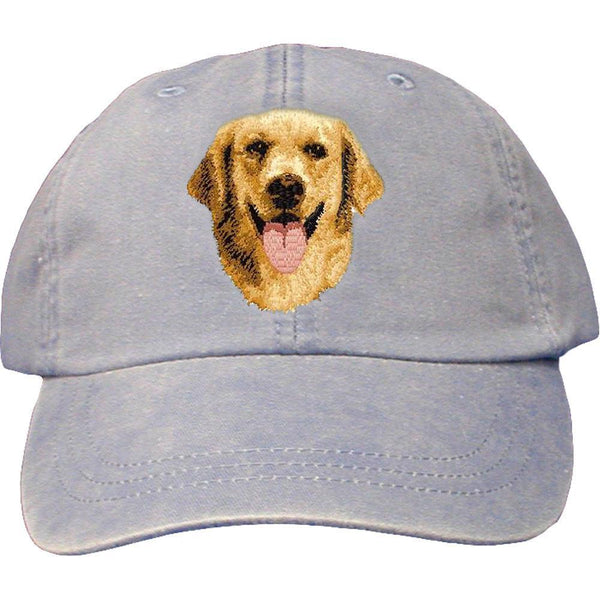 Embroidered Baseball Caps Light Blue  Golden Retriever D5