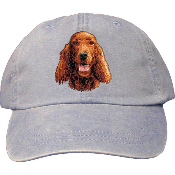 Embroidered Baseball Caps Light Blue  Irish Setter D23