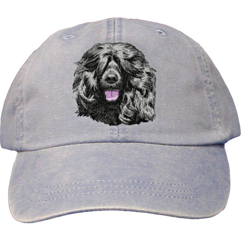 Embroidered Baseball Caps Light Blue  Portuguese Water Dog DM452