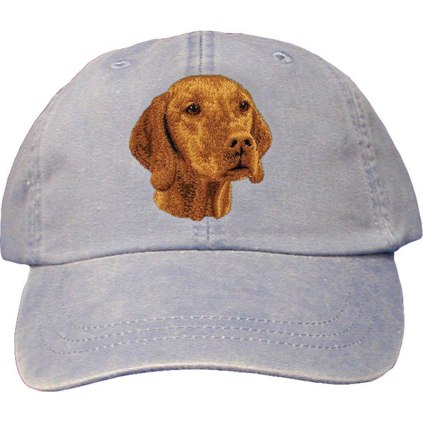 Embroidered Baseball Caps Light Blue  Vizsla D93