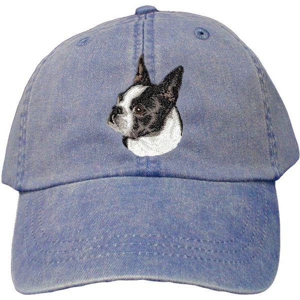 Embroidered Baseball Caps Denim  Boston Terrier D50