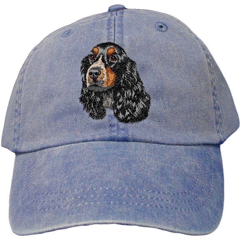 Embroidered Baseball Caps Denim  English Cocker Spaniel DV414