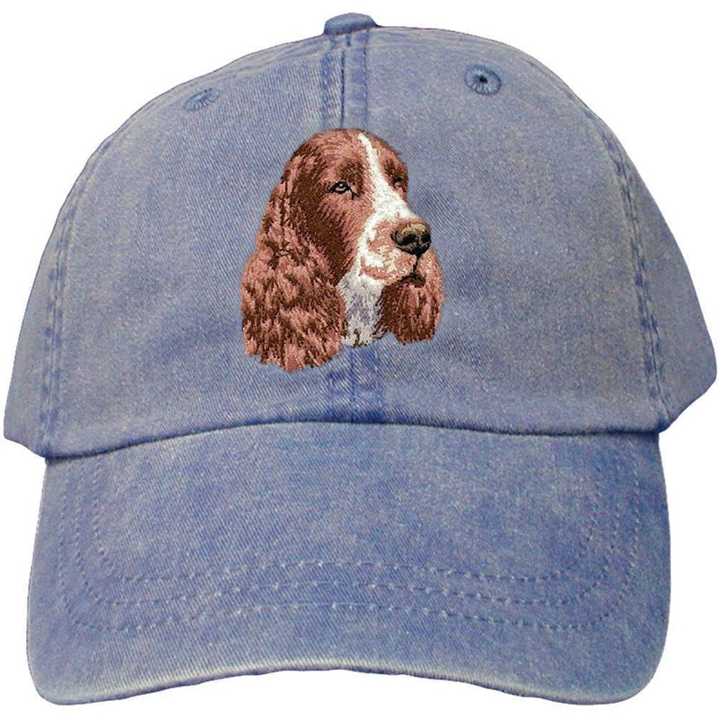 Embroidered Baseball Caps Denim  English Springer Spaniel D130