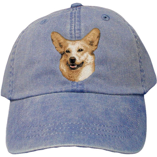 Embroidered Baseball Caps Denim  Pembroke Welsh Corgi D34
