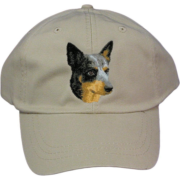 Embroidered Baseball Caps Grey  Australian Cattle Dog D99