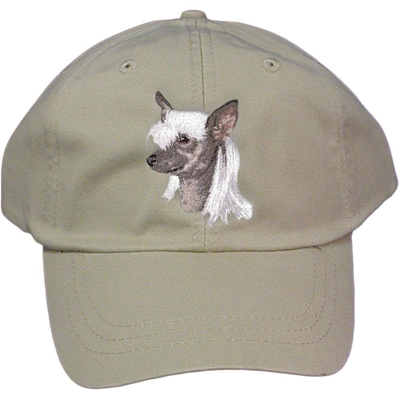 Embroidered Baseball Caps Grey  Chinese Crested D140