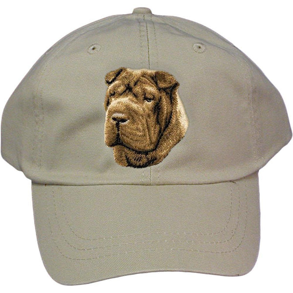 Embroidered Baseball Caps Grey  Chinese Shar Pei D45